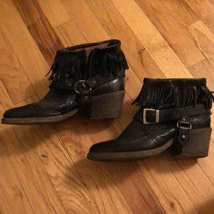 All Saints black booties